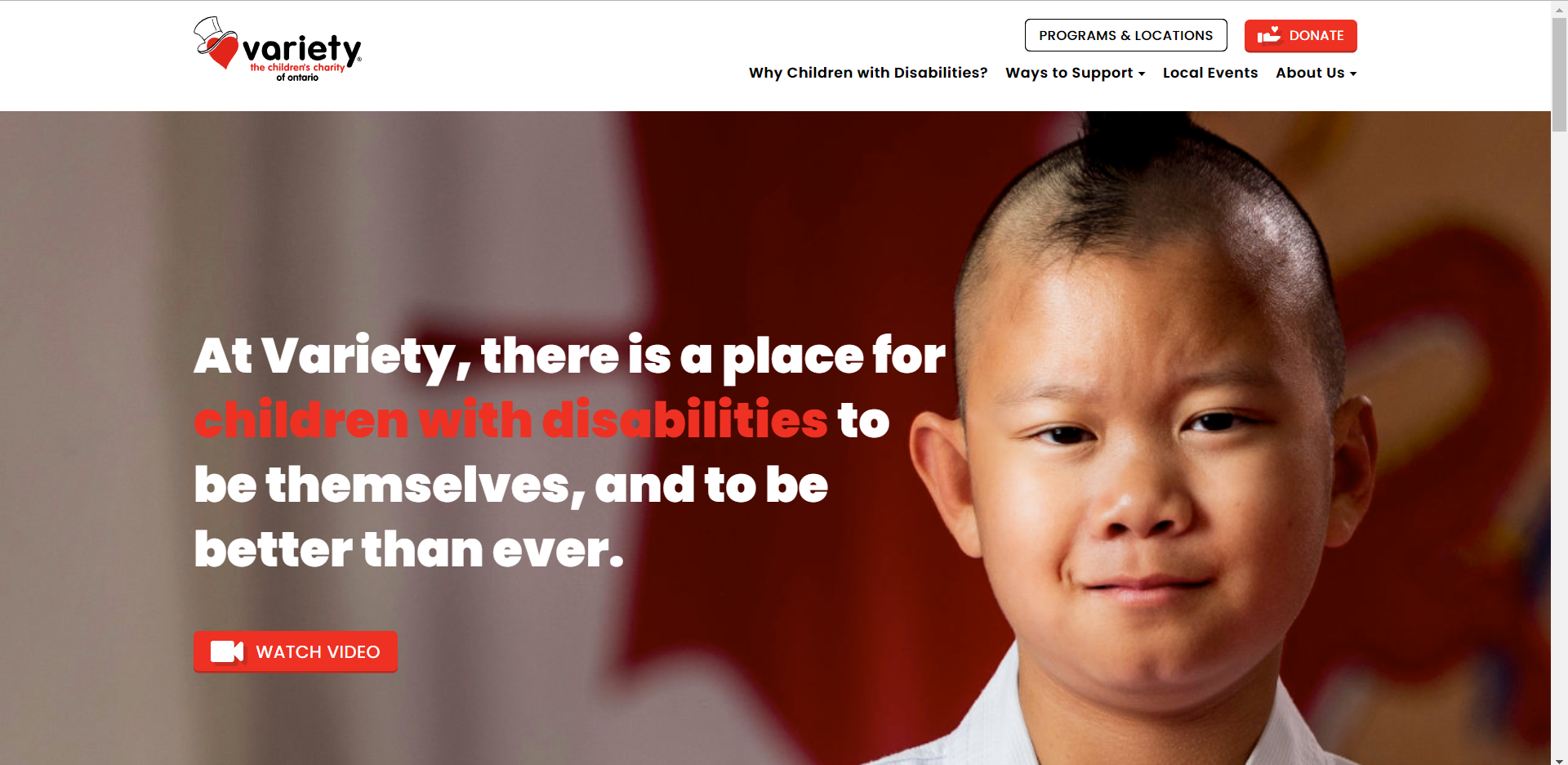 Screenshot of VarietyOntario homepage-Day2andDay6